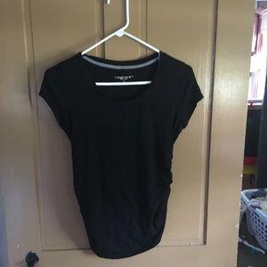 Black Maternity Short Sleeve T-shirt.